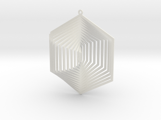 Pendant Wind Spinner 3D Hexagon