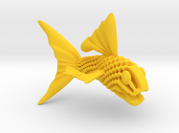 Artistic Fish Sculpture  in Yellow Strong & Flexible Polished