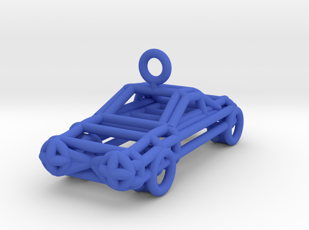 car in Blue Strong & Flexible Polished