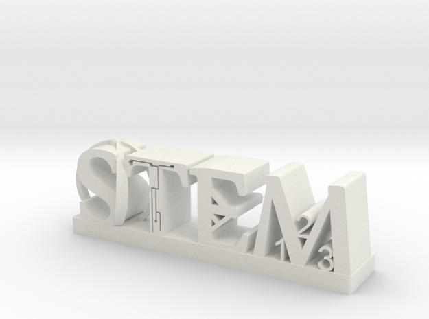 STEM INNOVATION LETTERS in White Natural Versatile Plastic