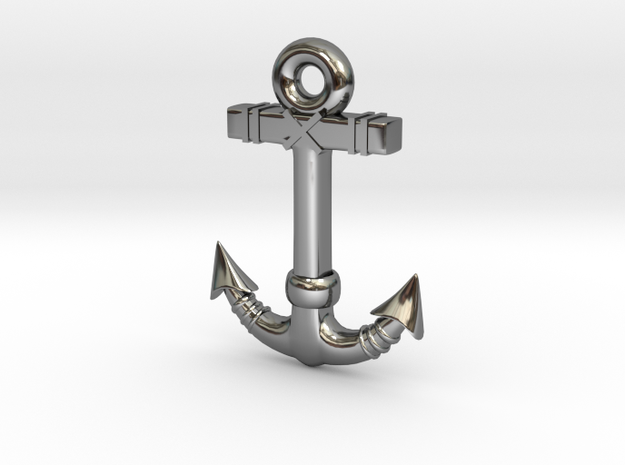 Anchor Pendant 1 in Premium Silver