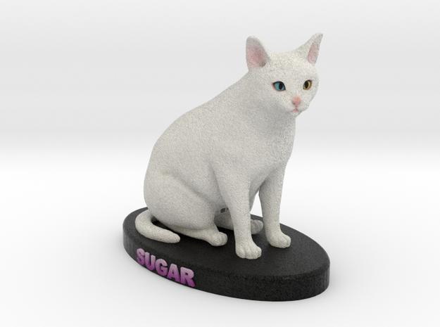 Custom Cat Figurine - Sugar in Full Color Sandstone