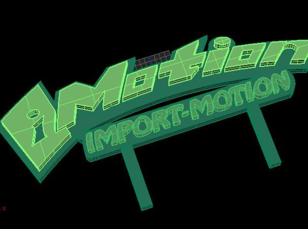 IMotion Lowrider Plaque 3d printed