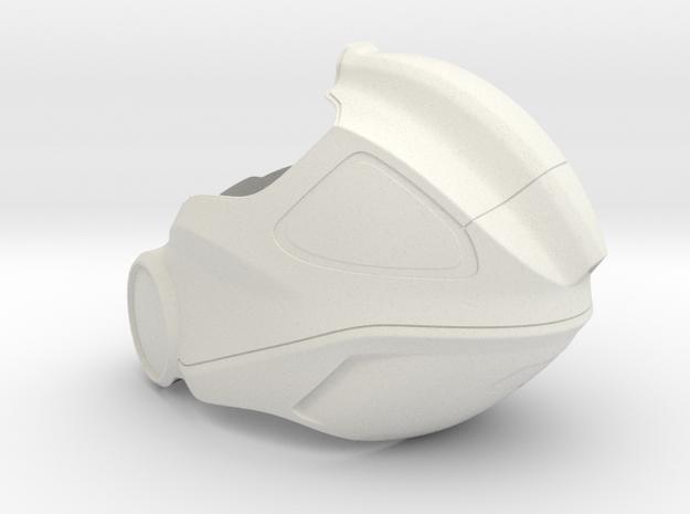 Aidan's Helmet_ Part 1 of 3 in White Strong & Flexible