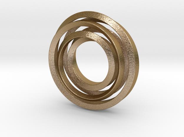 Eternity Twisting in Polished Gold Steel