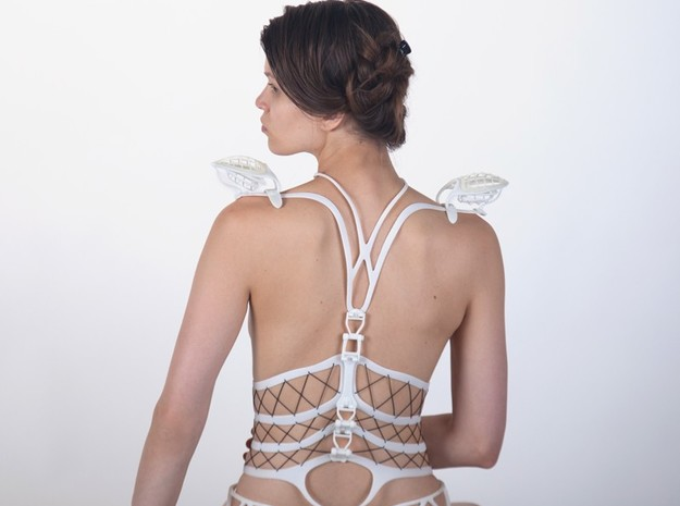 Seed Of Life corset in White Natural Versatile Plastic