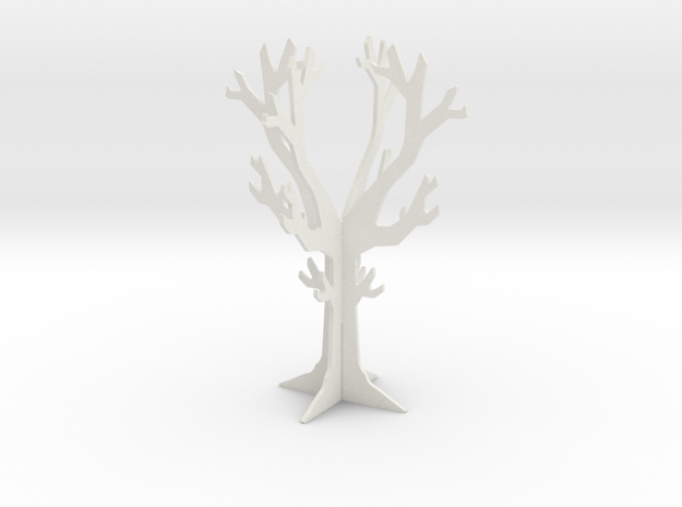 Desk top tree decoration in White Strong & Flexible