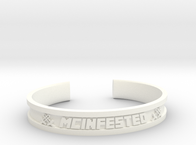 McBracelet (2.8 Inches) in White Strong & Flexible Polished