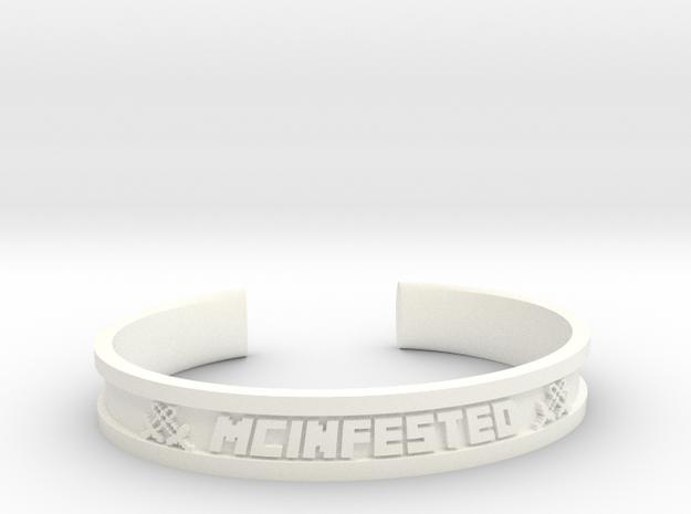 McBracelet (2.8 Inches) in White Processed Versatile Plastic