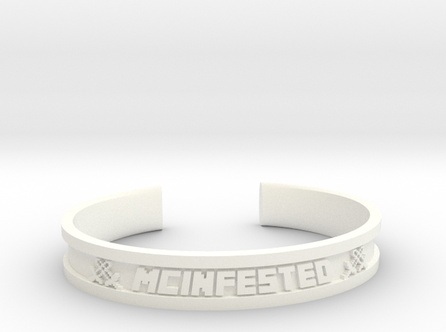 McBracelet (3.6 Inches) in White Strong & Flexible Polished