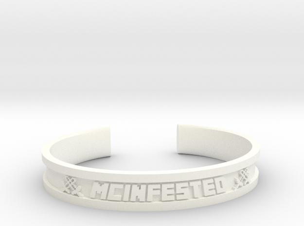 McBracelet (3.6 Inches) in White Processed Versatile Plastic