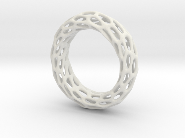 Trous Ring S 9.5 in White Strong & Flexible