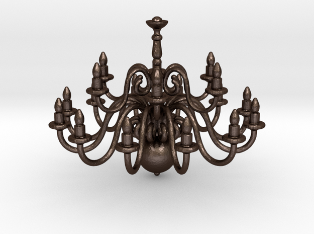 Chandelier  in Matte Bronze Steel