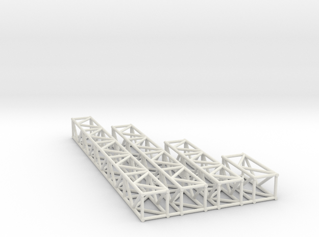 "12""sq Box Truss 1:48 in White Natural Versatile Plastic"
