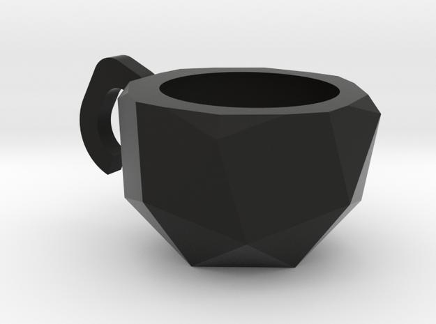 Snub Cube Cup in Black Natural Versatile Plastic