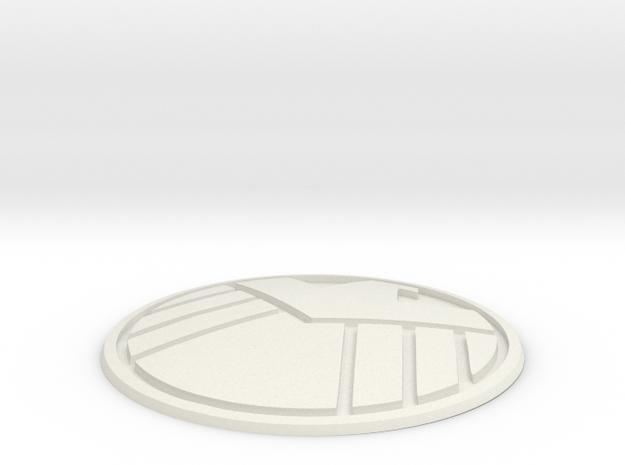 S.H.I.E.L.D. Badge in White Natural Versatile Plastic