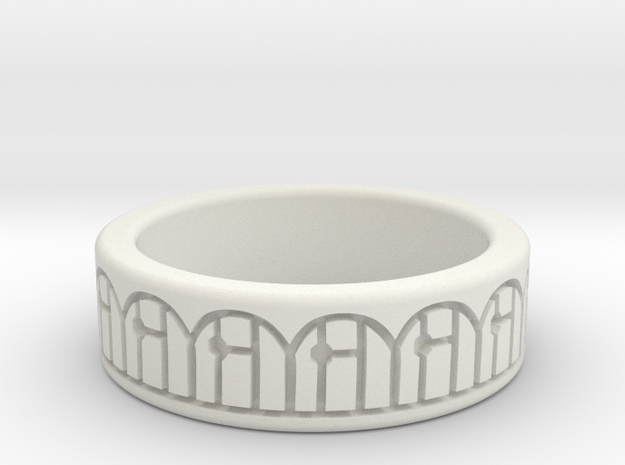 3D Printed Harmony Ring Size 7 by bondswell3D in White Natural Versatile Plastic