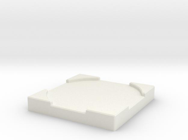 """Mini Counter - Medium (1"""") in White Natural Versatile Plastic"""