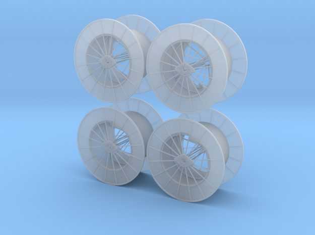 15ft Reel Assy - HO Scale 4 Pack in Smooth Fine Detail Plastic