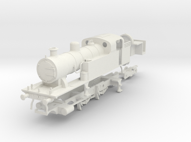 LMS (Ex LT&SR) 442 tank loco (superheated) in White Natural Versatile Plastic