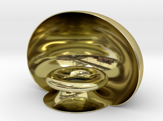 Golden Pedestal in 18k Gold Plated Brass
