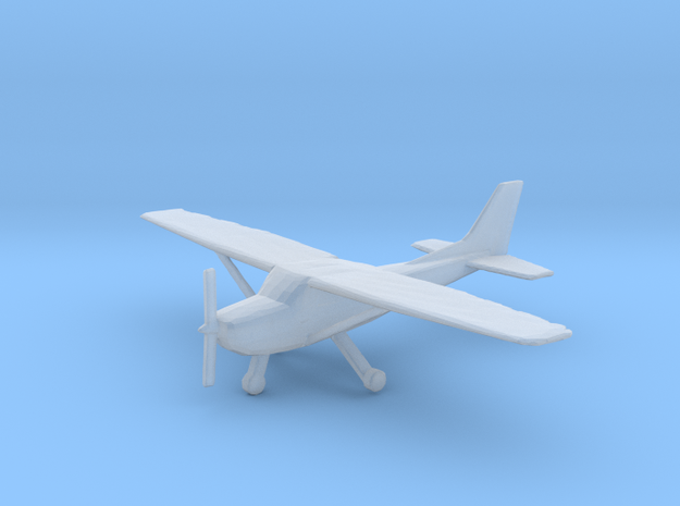 1:400 Cessna C172SP SkyHawk Wheeled Version in Frosted Extreme Detail