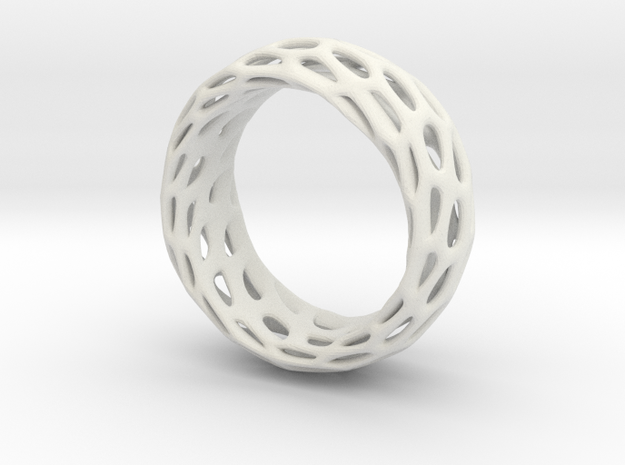 Trous Ring Size 4 in White Natural Versatile Plastic