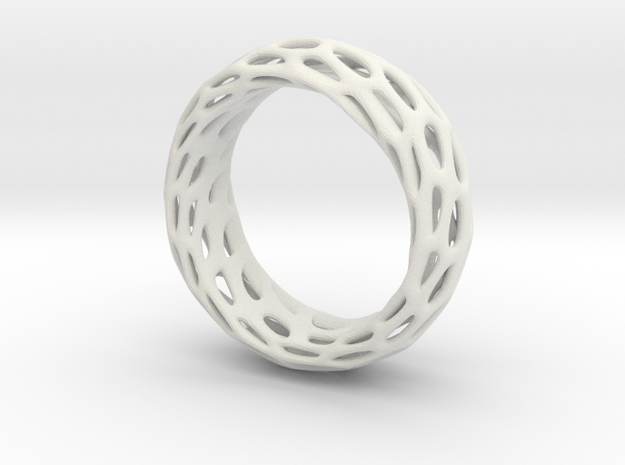 Trous Ring Size 6.5 in White Natural Versatile Plastic