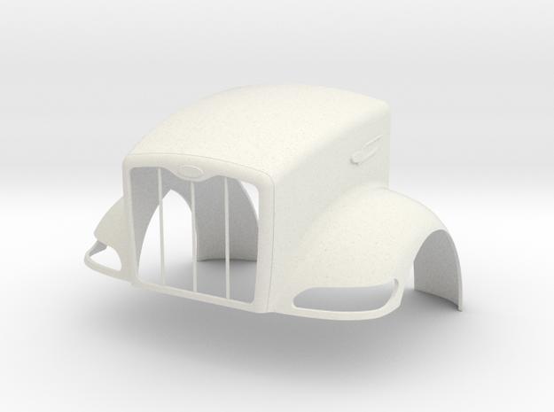 Pete 386 style Full Hood in White Natural Versatile Plastic