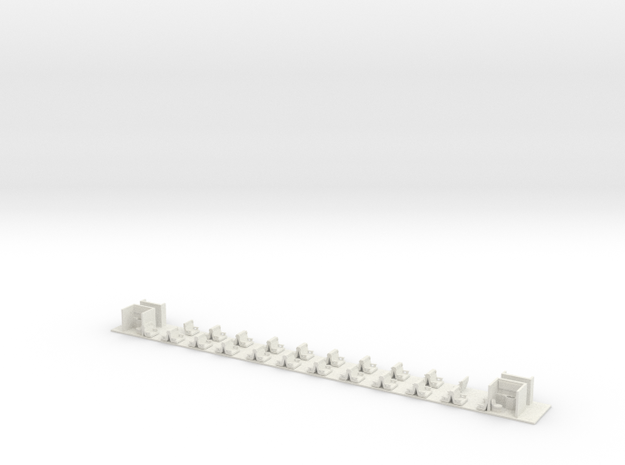 Inneneinrichtung Bpm51 SBB TT (1/120) (1:120) in White Natural Versatile Plastic