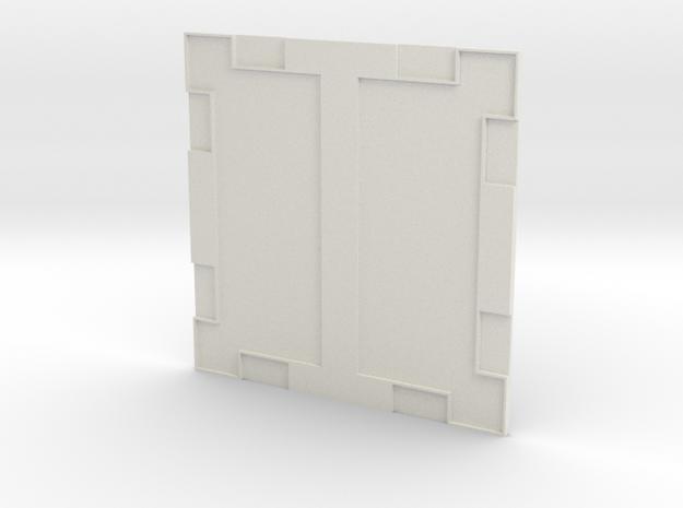 Sample Floor 003a in White Natural Versatile Plastic