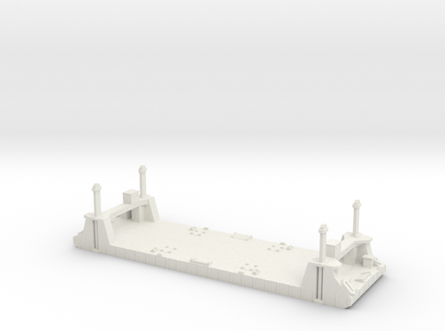 1/700 1 Off Spud Pontoon in White Strong & Flexible