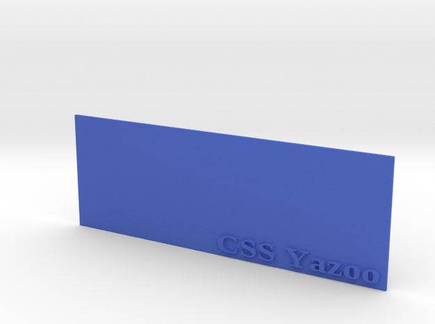 Base for 1/600 CSS Yazoo in Blue Strong & Flexible Polished