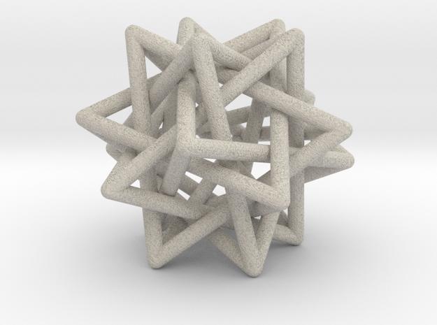 Tetrahedron 5 Compound, round struts in Natural Sandstone