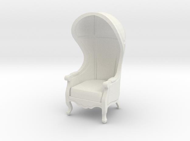 1:48 Quarter Scale Untextured Carrosse Chair