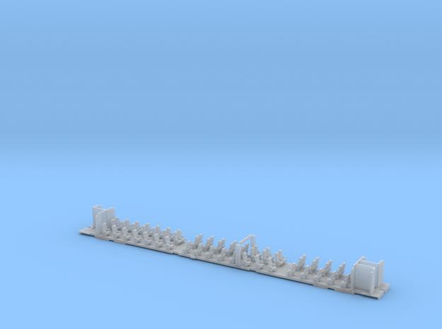 Inneneinrichtung Interex 1. Klasse TT 1:120 in Smooth Fine Detail Plastic