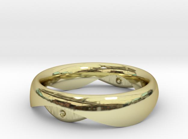 Swing Ring elliptical 17mm inner diameter in 18k Gold Plated Brass