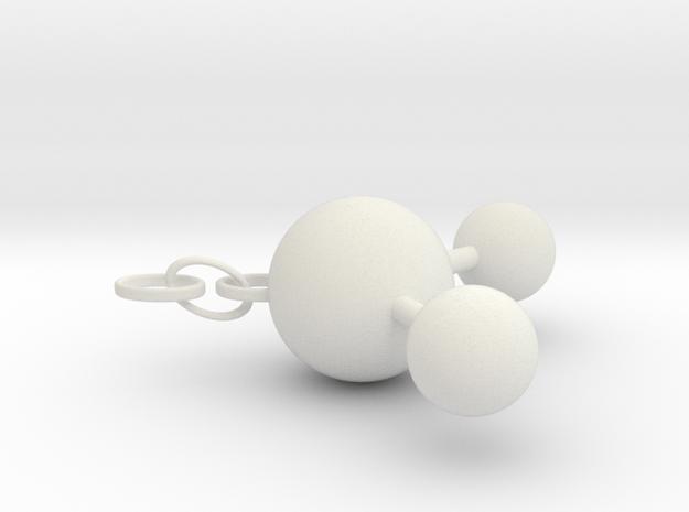 Water(ver. Ring) in White Natural Versatile Plastic
