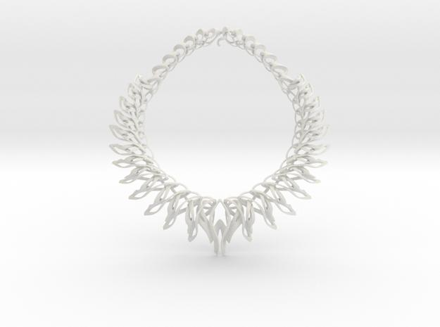 Mahuika Necklace in White Natural Versatile Plastic