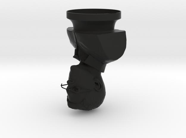 Edward Snowden Bust Sculpture in Black Natural Versatile Plastic
