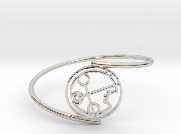 Brandi - Bracelet Thin Spiral in Rhodium Plated Brass