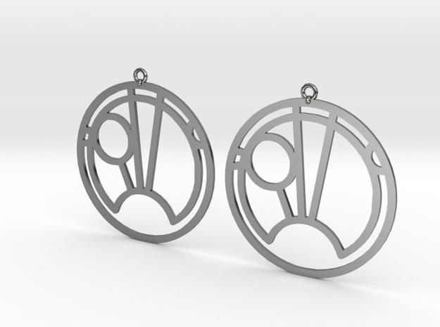 Sam - Earrings - Series 1 in Fine Detail Polished Silver