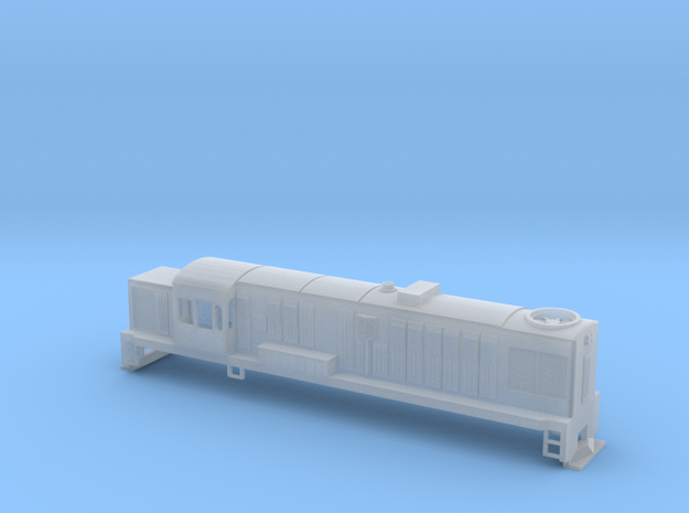 DJ Locomotive, New Zealand, (NZ120 / TT, 1:120) 3d printed