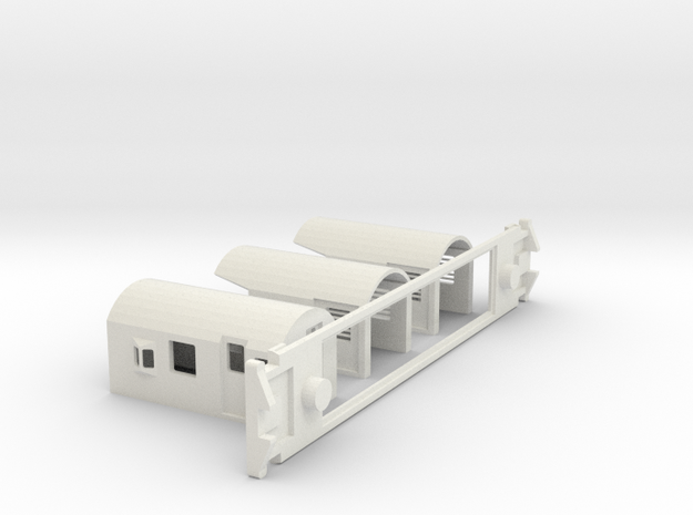 FM Guards Van, New Zealand, (OO Scale, 1:76) in White Strong & Flexible