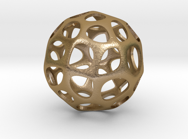 Voronoi sphere1 in Polished Gold Steel