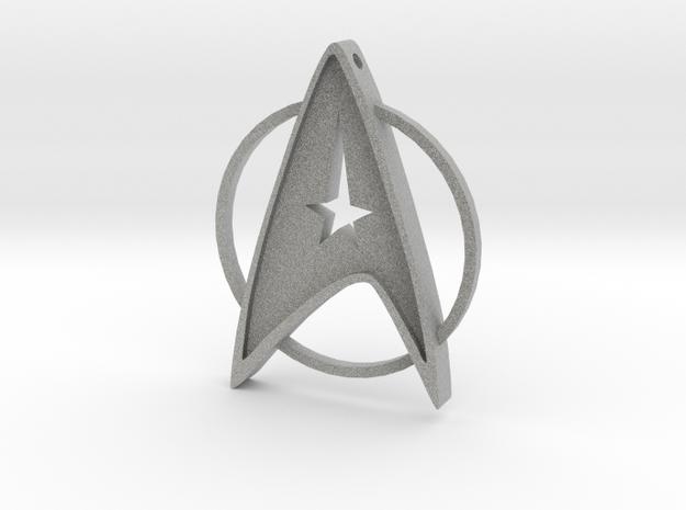 StarTrek Amulet in Metallic Plastic