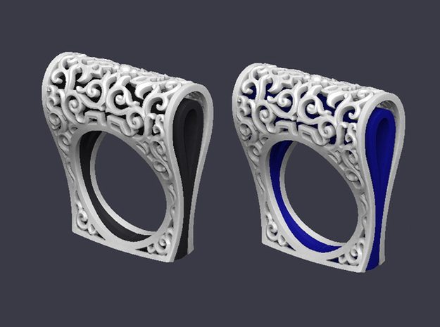 Ring Ornament in White Strong & Flexible