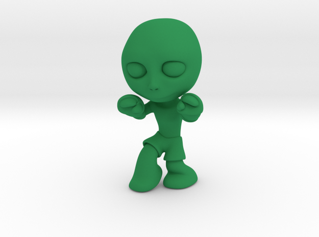 MTI-newfella muay thai pose 2 in Green Processed Versatile Plastic