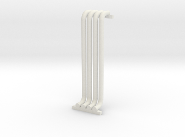 N Scale Pipe Rack Riser 28mm in White Natural Versatile Plastic