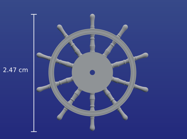1:72 HMS Victory Ships Wheel in Frosted Ultra Detail